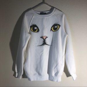 Kitten sweatshirt by Romwe